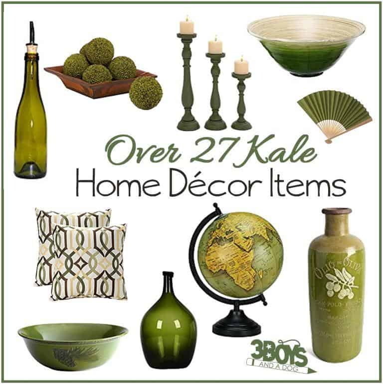 Kale Home Decor Accent Pieces