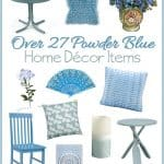 Powder Blue Home Decor Accent Pieces