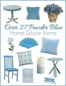 Over 27 Home Decor Accent Pieces in Powder Blue