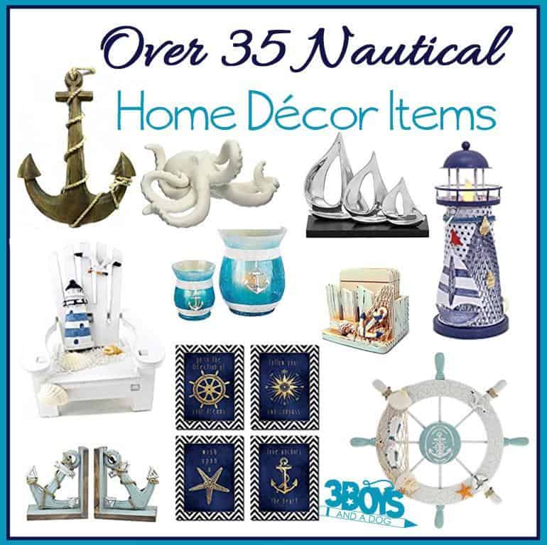 Over 35 Home Decor Accent Pieces for Nautical Design