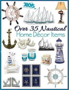 Over 35 Nautical Home Decor Accent Items