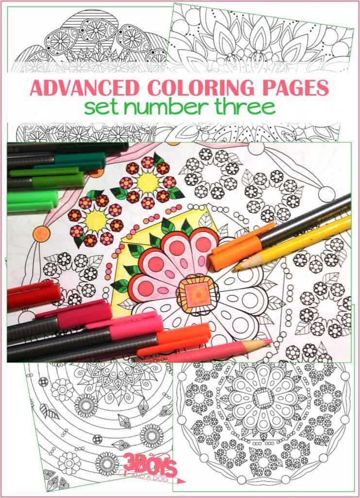 Printable Advanced Mandala Inspired Coloring Pages 3