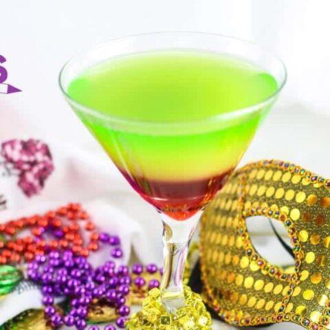 Rainbow Mardi Gras Mocktails for Kids