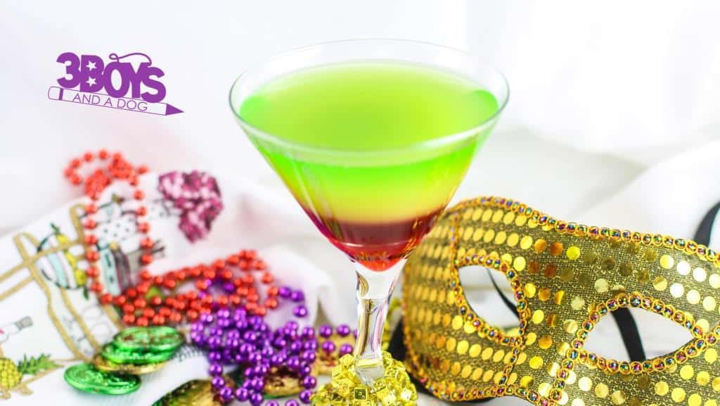 Rainbow Mardi Gras Mocktails for Kids