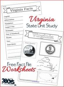 Virginia Fact File Worksheets