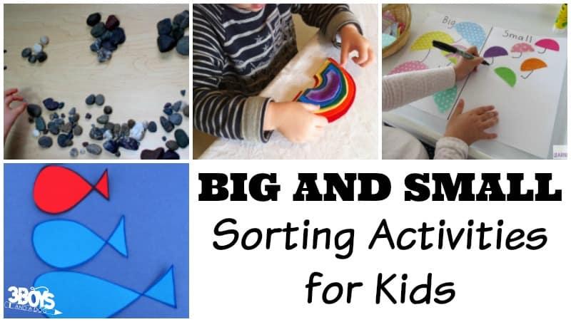 Big and Small Sorting Activities