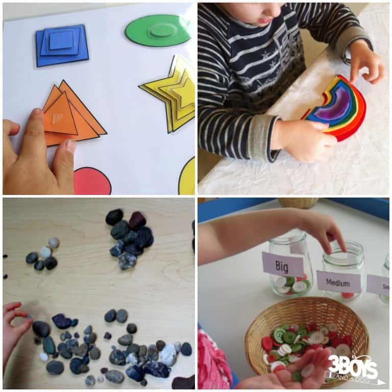 Big and Small Sorting Ideas