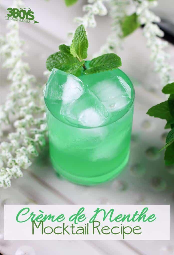 Mint Green Creme de Menthe Mocktail Recipe for Kids
