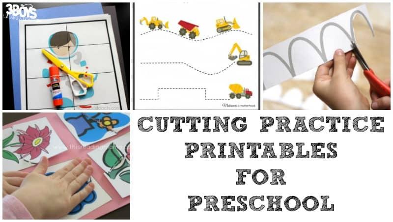Cutting Practice Printables for Preschool