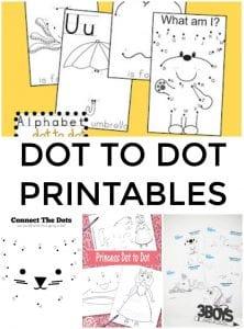 Dot to Dot Printables for Children