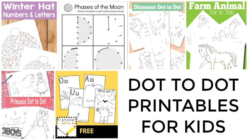 Dot to Dot Printables for Kids to Try