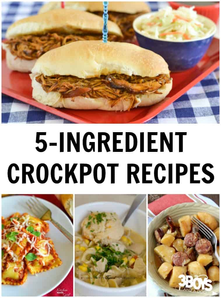 Five Ingredient Recipes for the Crockpot
