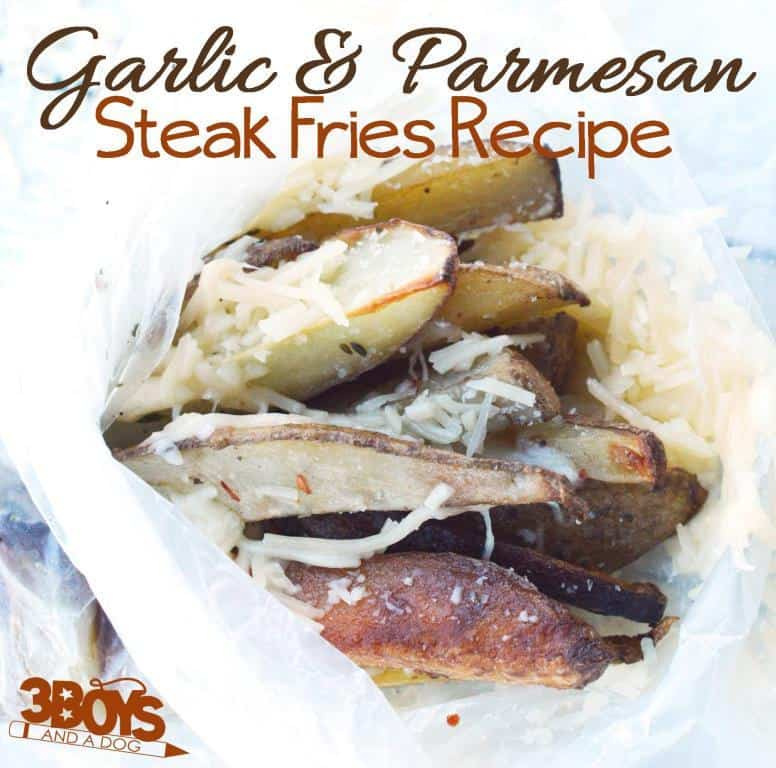 Garlic and Parmesan Oven Steak Fries