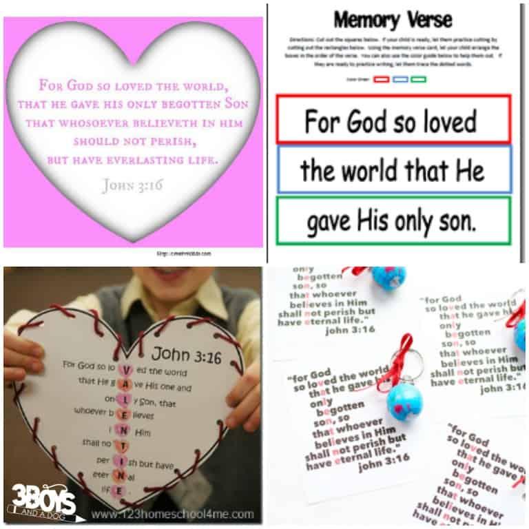 John 3:16 Printable Verses