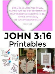 John 3:16 Printables