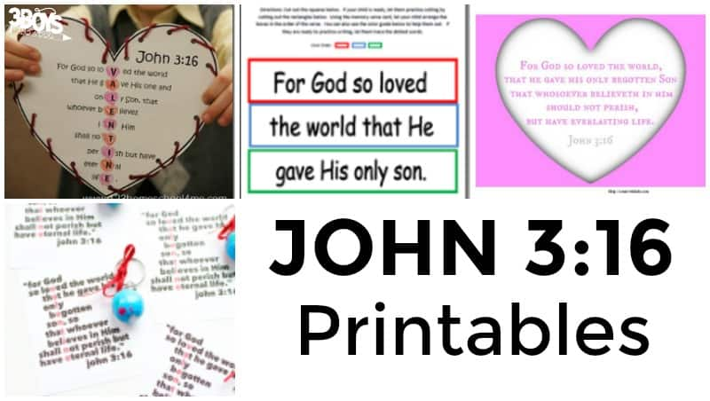 John 3:16 Printables for Kids