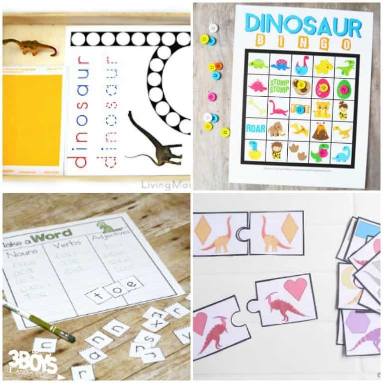 Kids Dinosaur Printables