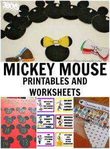 Mickey Mouse Worksheets and Printables