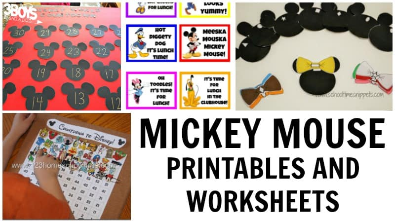 Mickey Mouse Printables for Kids