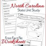 North Carolina State Fact File Worksheets