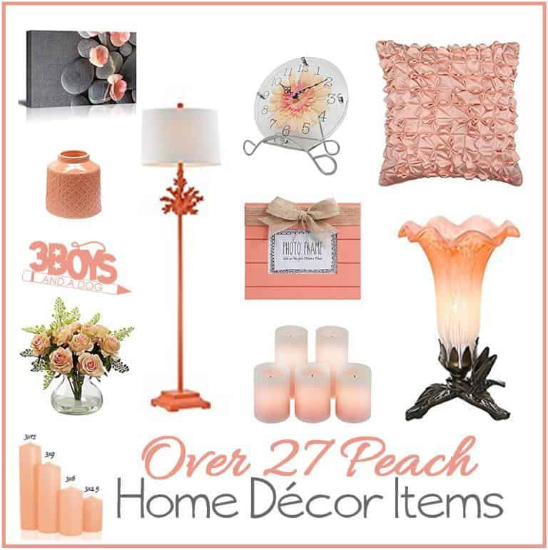 Over 27 Peach Home Decor Accent Items