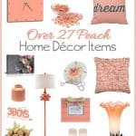 Peach Home Decor Accent Pieces