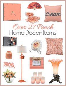 Over 27 Peach Accent Home Decor Pieces