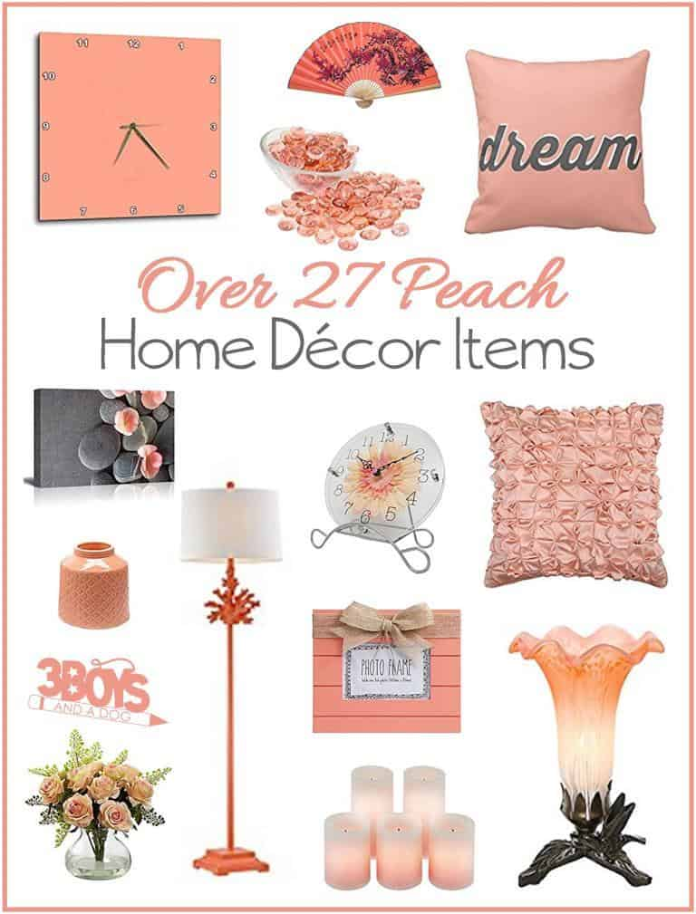 Over 27 Peach Accent Home Decor Pieces