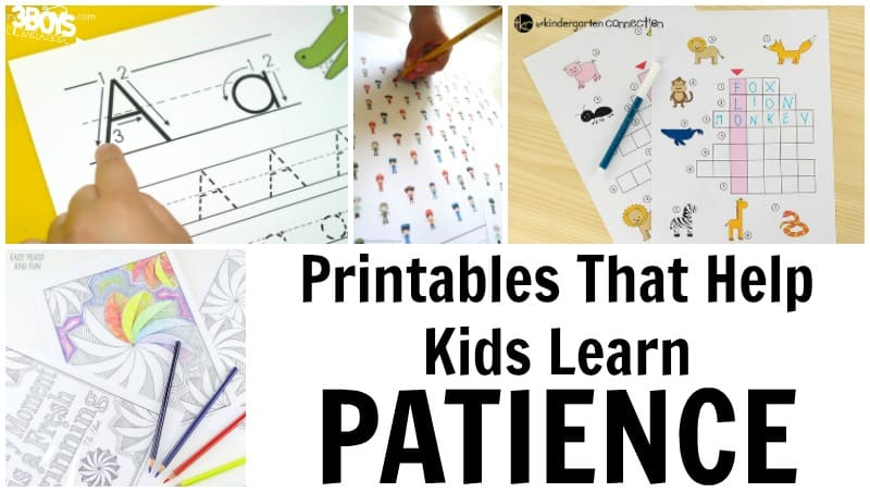 Patience Worksheets for Kids to Use