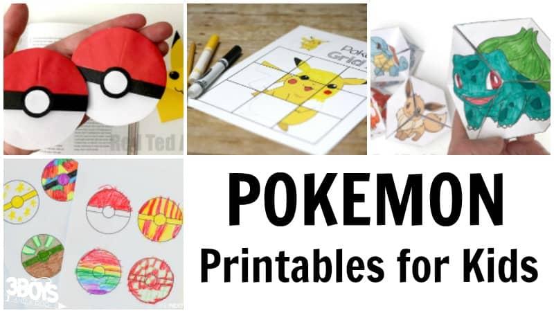 Pokemon Printables Kids Will Love