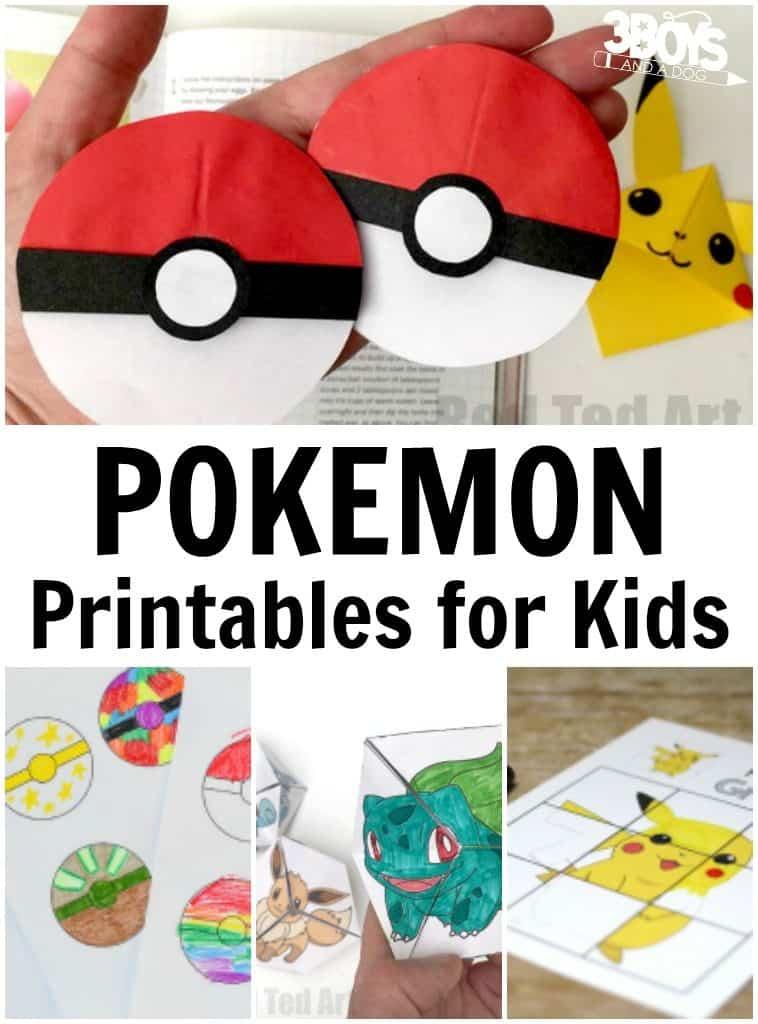 Pokemon Printables for Kids