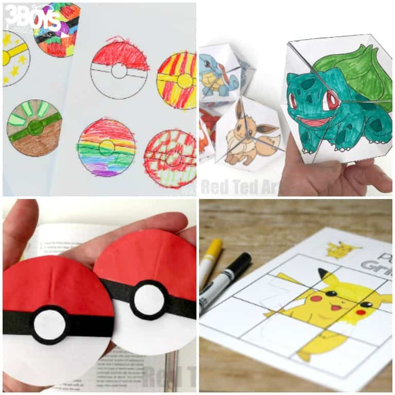 Pokemon Printables for Kids to Try