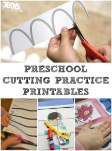 Cutting Practice Printables for Preschoolers
