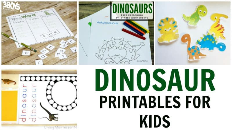 Printable Dinosaur Activities for Kids