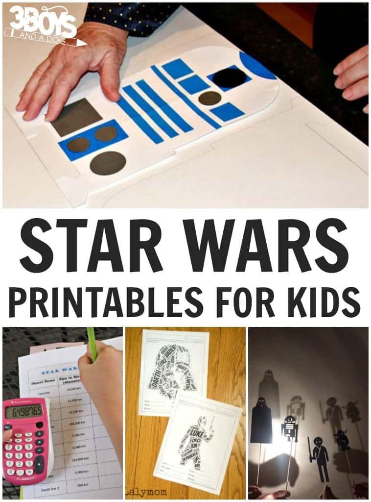 Star Wars Printables for Kids