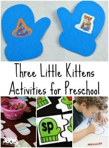 Three Little Kittens Activities for Preschool