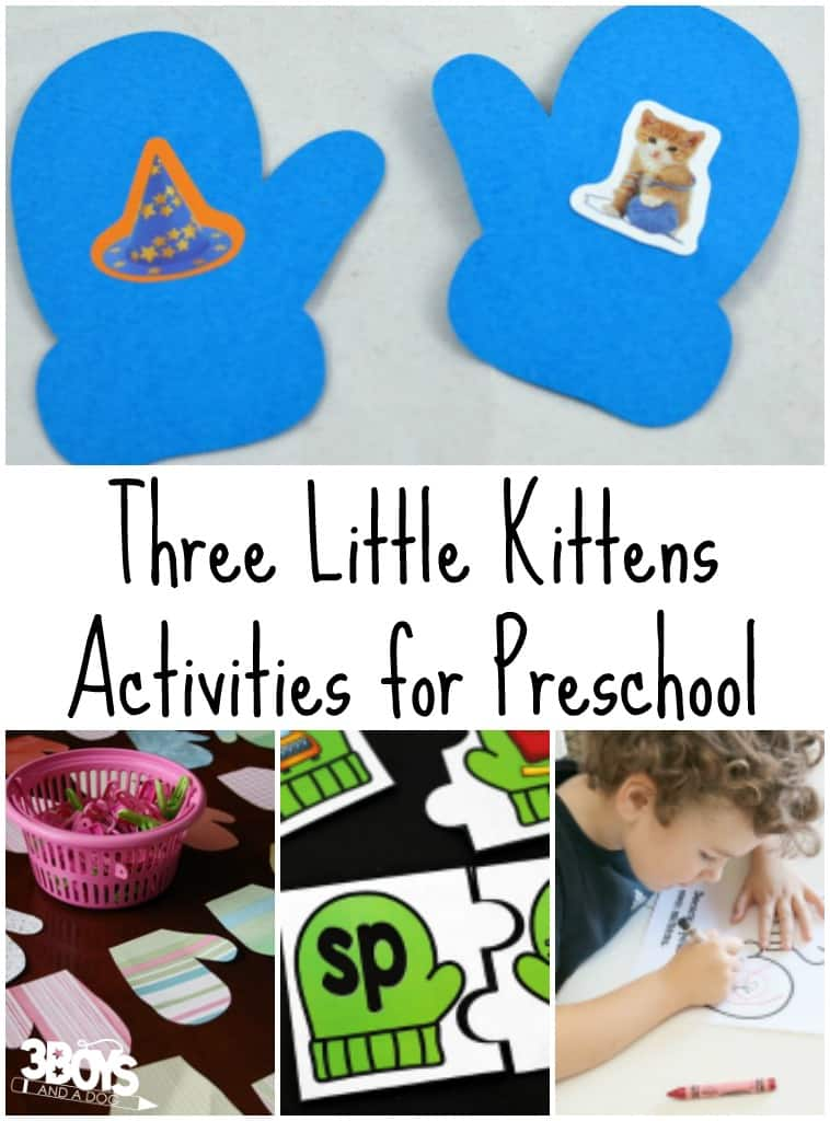 Three Little Kittens Activities for Preschool