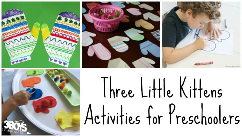 Three Little Kittens Activities for Preschoolers