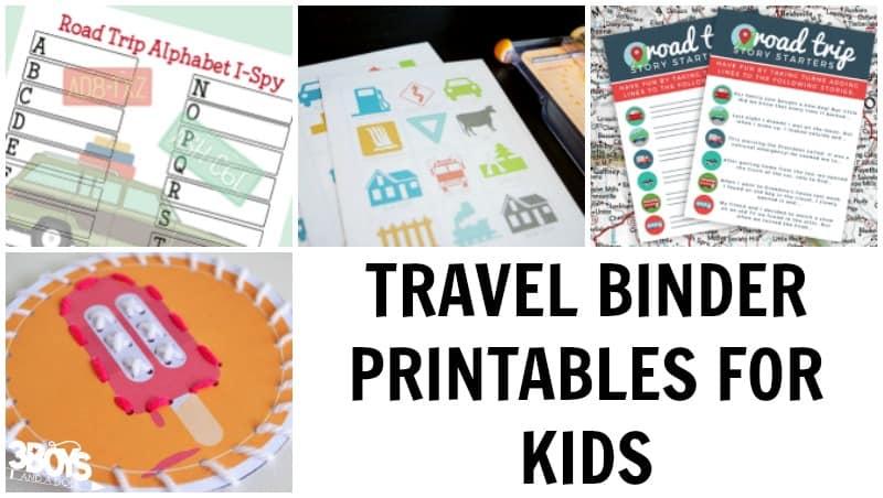 Travel Binder Printables for Kids