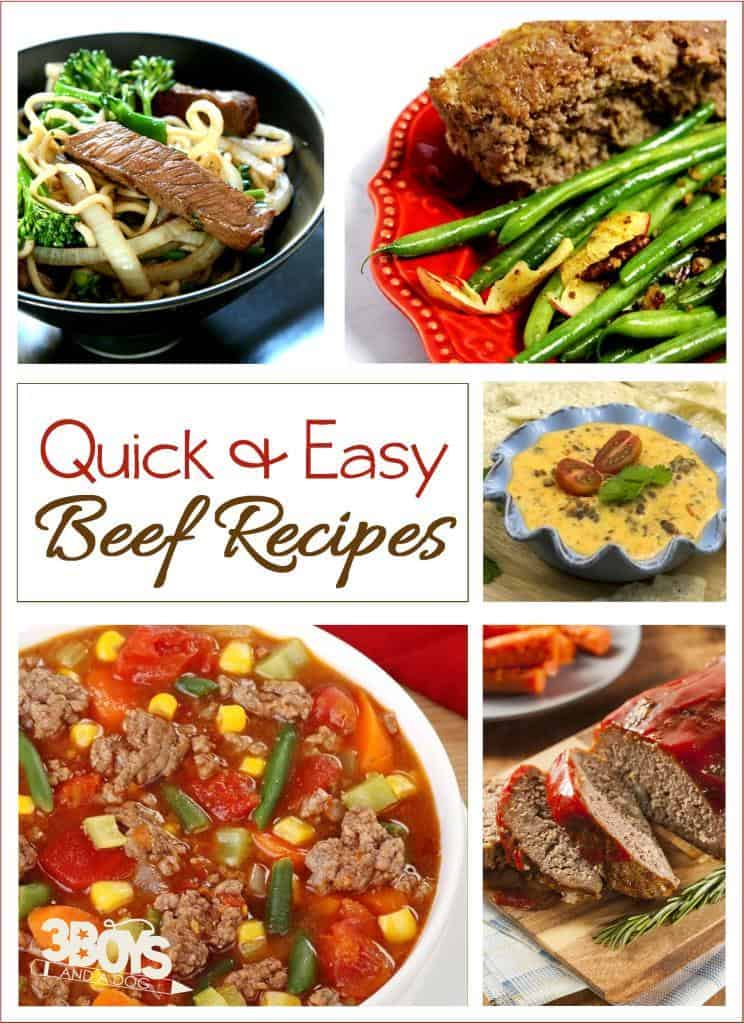 quick and easy beef recipes