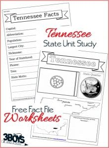 Tennessee State Fact Files - Free Printables Worksheets