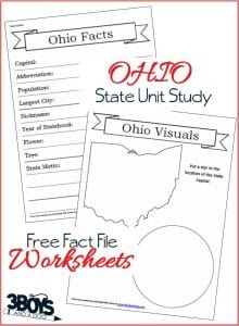 These Ohio State Fact File Worksheets are the perfect worksheets to help you and your child record many facts about the state of Ohio.