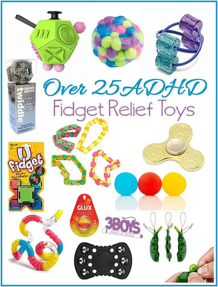Over 25 Fidget Relief Toys for ADHD and Spectrum Disorders