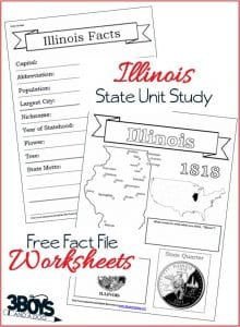 Learn about Illinois with these Fact File Worksheets