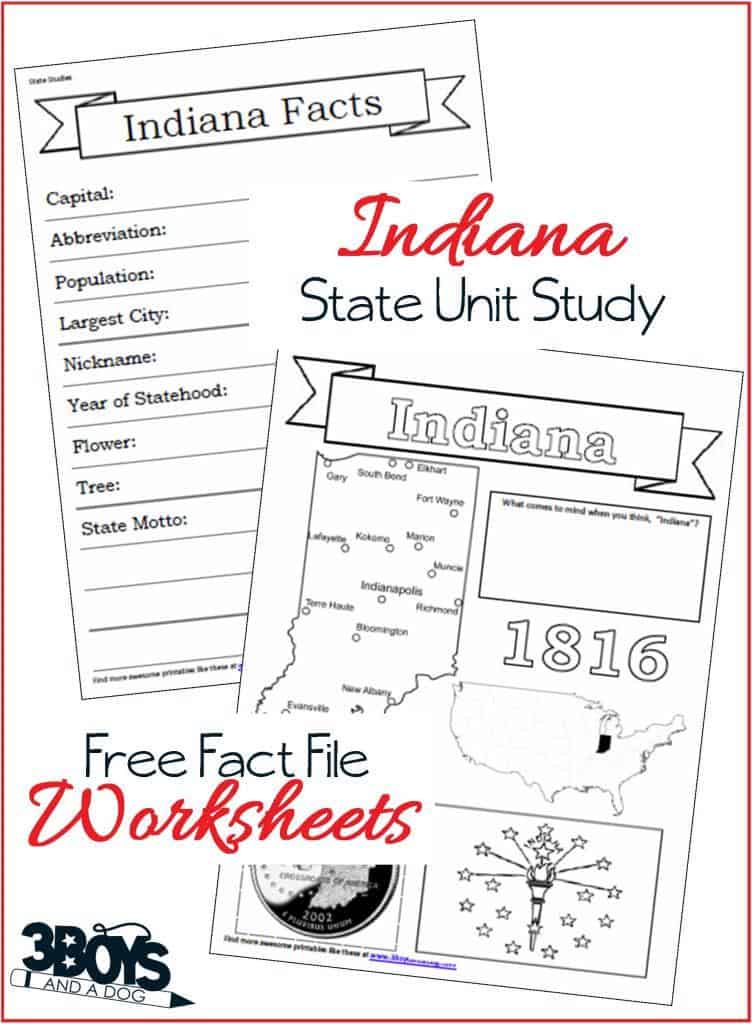 Facts about Indiana for Kids - symbols, capital, flag, and more
