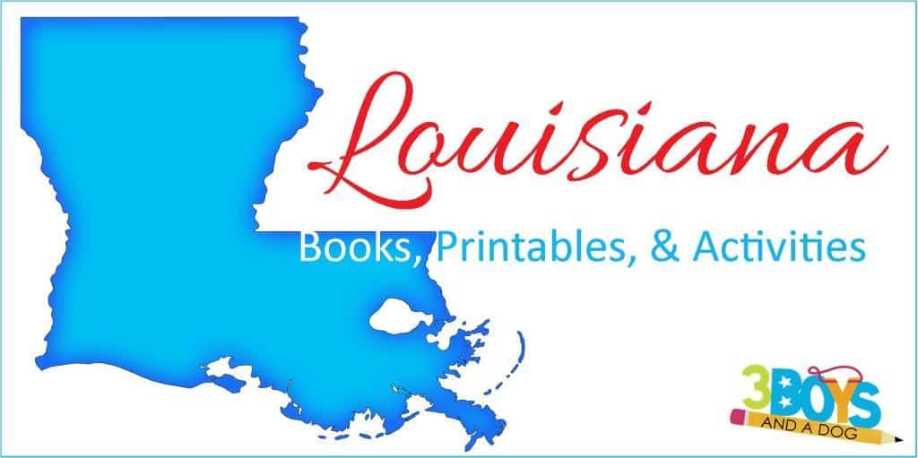 Louisiana Books Printables Crafts and More
