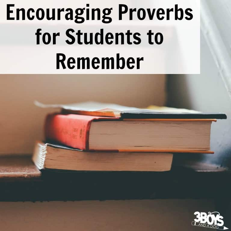 Encouraging Proverbs for Students to Remember