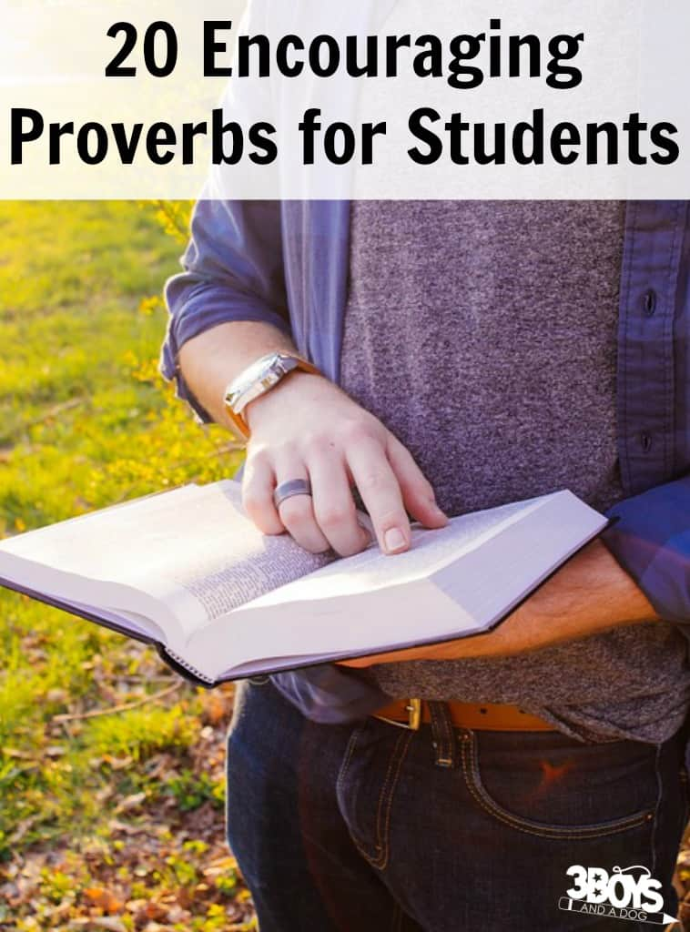 Encouraging Proverbs for Students