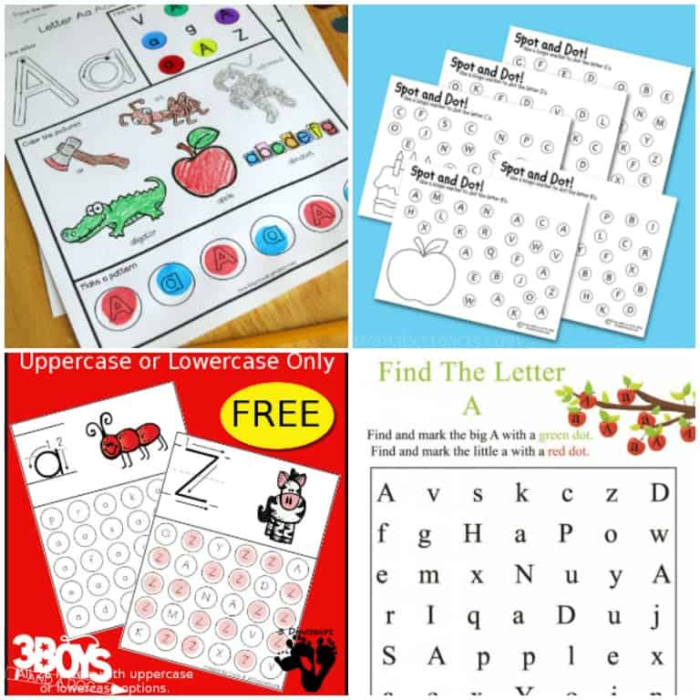 Find the Letter A Worksheets and Printables