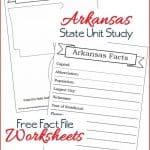 Arkansas State Fact File Worksheets